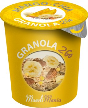 Упаковка гранола манго и чиа Muesli Mania Mango Chia Granola 6 шт х 70 г (6k-4820220140050)