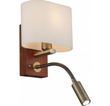 Бра INL-3095W-02 Antique brass & Walnut