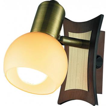 Бра INL-9275W-01 Antique brass & Walnut