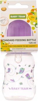 Бутылочка для кормления с талией и силиконовой соской Baby Team 125 мл Фиолетовая (1111_Фиолетовый)