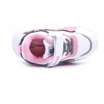 Кросівки для дівчинки CLIBEE F983 Біло-рожевий КВ0479
