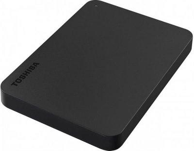 """Накопитель внешний HDD 2.5"""" USB 1.0TB Toshiba Canvio Basics Black + USB-C адаптер (HDTB410EK3ABH)"""