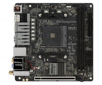 Материнська плата ASRock Fatal1ty B450 Gaming-ITX/ac Socket AM4