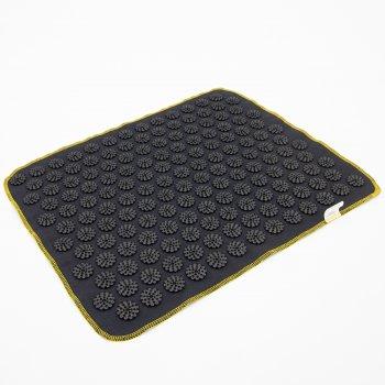 Килимок масажний Аплікатор Кузнєцова (для спини, ніг) OSPORT Їжачок 188 (apl-004) Чорно-чорний