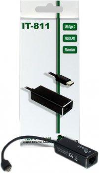 Адаптер Argus IT-811,USB Type C / Gbit LAN