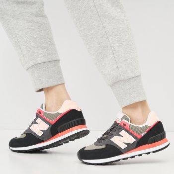 Кросівки New Balance WL574ST2 Чорні з рожевим