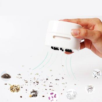 Портативный мини-пылесос Dooda для рабочего стола и очистки от крошек клавиатуры / дома / школы / офиса, черный (DOD-065A02)