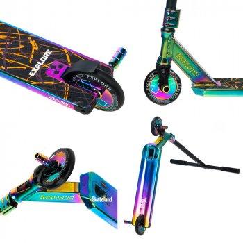 Професійний трюковий самокат Explore Flamina Deluxe з рябій