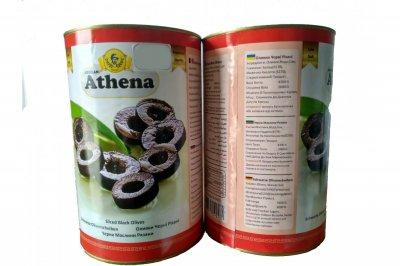 Оливки Athena чорні різані ж.б. 4300/2000