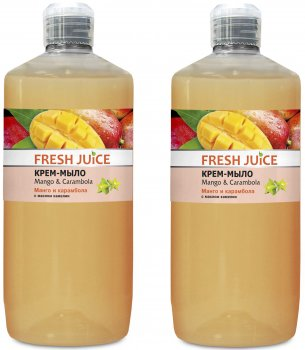 Набор Fresh Juice Крем-мыло Mango&Carambola 1 л х 2 шт (49000062)