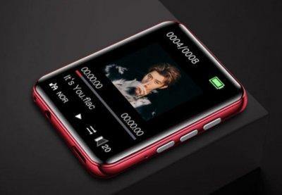 MP3 плеєр Ruizu A02 Bluetooth 4Gb сенсорний Червоний