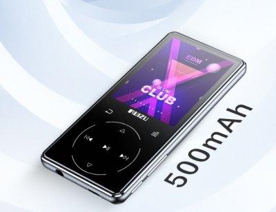 MP3-плеєр Ruizu D16+ Max Bluetooth 16Gb із зовнішнім динаміком Сріблястий