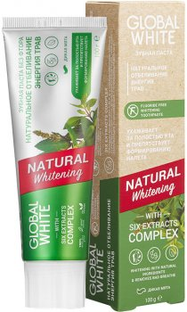 Зубная паста Global White Натуральное отбеливание Энергия трав 100 г (2021012512315)