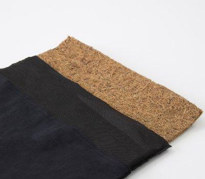 Масажний килимок і валик (аплікатор Кузнєцова) масажер для спини/шиї/тіла OSPORT Lotus Mat Eco (apl-021) Чорно-фіолетовий