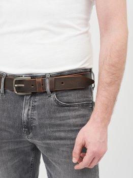 Мужской ремень кожаный Sergio Torri 16-0074/40 кор/чер 125 см Коричневый (2000000023922)