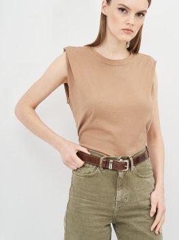 Женский ремень кожаный Sergio Torri 16-0022/30 кор/лак 125 см Коричневый (2000000023847)