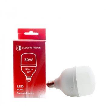 ElectroHouse LED лампа E27 / 4100K / 30W 2700Lm /270° T80