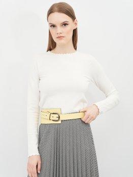 Женский ремень кожаный Sergio Torri 16-0048 жел 130 см Желтый (2000000023601)