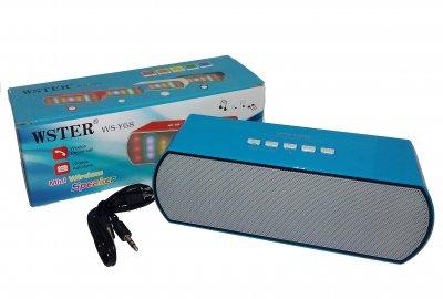 Портативна Bluetooth колонка WSTER WS-Y68 зі світломузикою блакитна (n117)