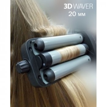 Плойка TICO Professional 100212 3D Waver середня хвиля 25мм (TICO100212)