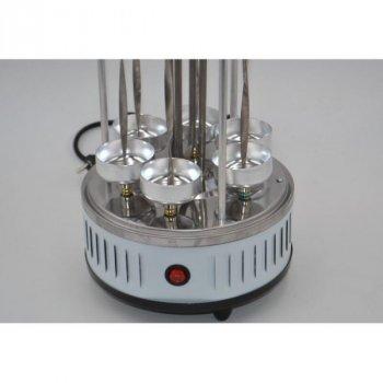 Электрошашлычница для будинку вертикальна Domotec MS-7782 BBQ 1000W, Біла
