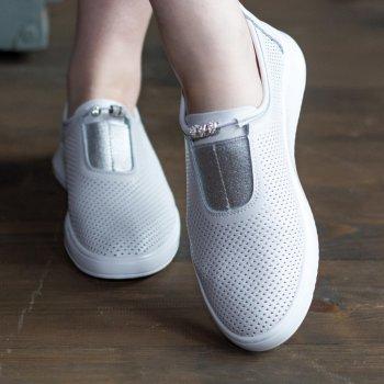 Слипоны женские Shoes Ebb 2769 25 Белый
