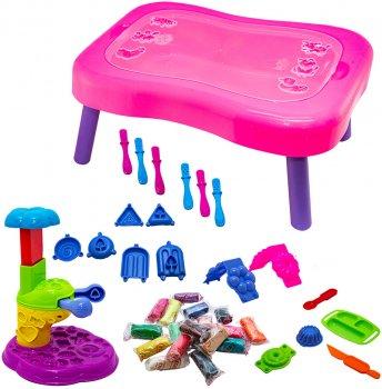 Набор для креативного творчества Strateg Мистер тесто - подарочный чемодан Розовый (71308)
