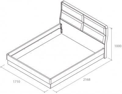 Ліжко Aqua Rodos Avangard 160 х 200 см Білий матовий (AVBED-160-WHITE-MATT)