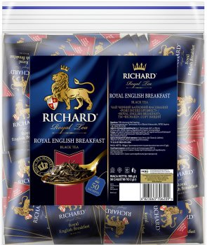 Чай Richard черный байховый Royal English Breakfast 50 пакетиков (4823063706209)