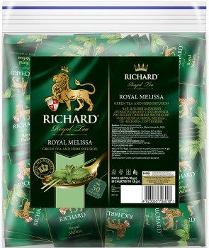 Чай Richard зеленый Royal Melissa со вкусом мелисы 50 пакетиков (4823063706018)