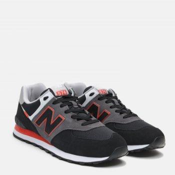 Кросівки New Balance Varsity ML574SM2 Чорні з червоним