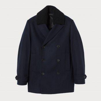 Пальто H&M 20601171_тсиний Темно-синее