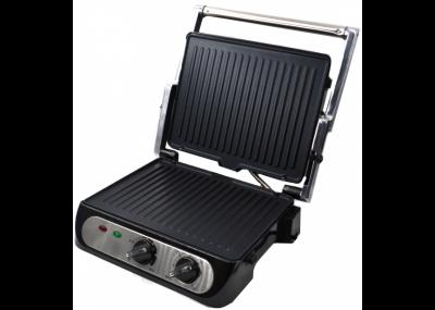 Електричний гриль Crownberg CB-1042 притискної для стейків сендвічів 2000 Вт + антипригарне покриття (11977)
