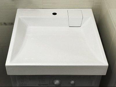 Раковина над стиральной машиной Largo Verona Quadro 60x60 белая