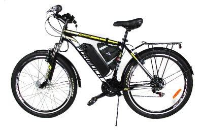 Электровелосипед Magnum 26 колесо 36В 350Вт 12ч литий ионный аккумулятор черный с желтым