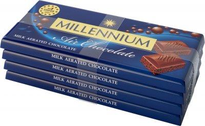 Упаковка шоколада Millennium молочного пористого 4 шт х 85 г (4820240030751)