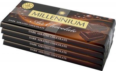 Упаковка шоколада Millennium черного пористого 4 шт х 85 г (4820240030775)