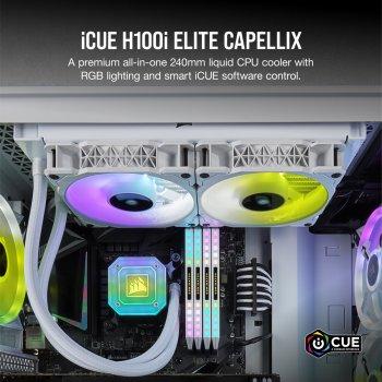 Система водяного охолодження Corsair iCUE H100i Elite Capellix R GB White (CW-9060050-WW)