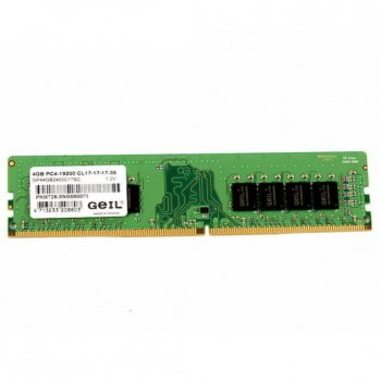 Пам'ять DDR4 4Gb, 2400 MHz, Geil Pristine, 17-17-17, 1.2 V (GP44GB2400C17SC)