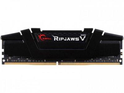 Память DDR4 16Gb, 3200 MHz, G.Skill Ripjaws V, Black, 16-18-18-38, 1.35V, с радиатором (F4-3200C16S-16GVK)