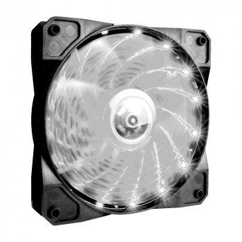 Вентилятор 1stPlayer A1-15LED White bulk; 120х120х25мм, 4-pin