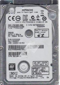 "Жорсткий диск для ноутбука HGST 500 Gb (2.5"", 8Mb, 5400 об/хв, 7 mm, SATA II, 0J23335) Б/У"