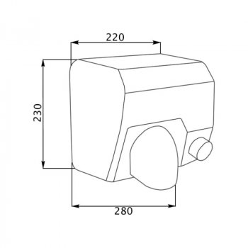 Сушарка для рук Lidz 2300 Вт (130.01.95) (SX-700125)
