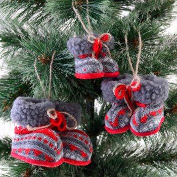 """Ялинкова іграшка Новогодько (YES! Fun) """"Чобітки різдвяні"""", h-5 см (973463) (5056137157853)"""