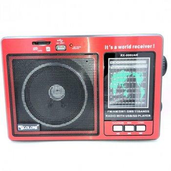 Радиоприёмник портативный аккумуляторный Golon RX-006 UAR FM радио с USB выходом Красный (L453)