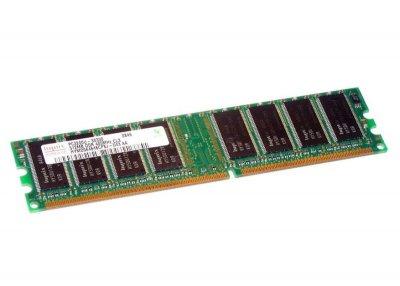 Оперативна пам'ять 512 МБ, DDR, Hynix (для настільних ПК, 400 МГц, 2.5, CL3, HYMD564646CP8J-D43 БУ
