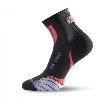 Шкарпетки Lasting ITL чорні/червоні