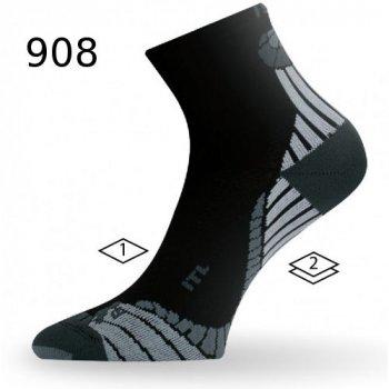 Шкарпетки Lasting ITL чорні/сірі
