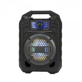 Колонка Bluetooth валізу AFG К25-B13 від мережі та від акумулятора з USB, FM, AUX, Bluetooth, світломузика з виходом на мікрофон чорний (KOO_AVE001_K25)