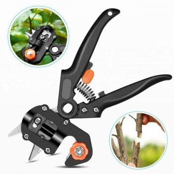 Прищепний Секатор Sono для садівників 3 змінних ножів з двостороннім заточуванням (SC-8201-S1)
